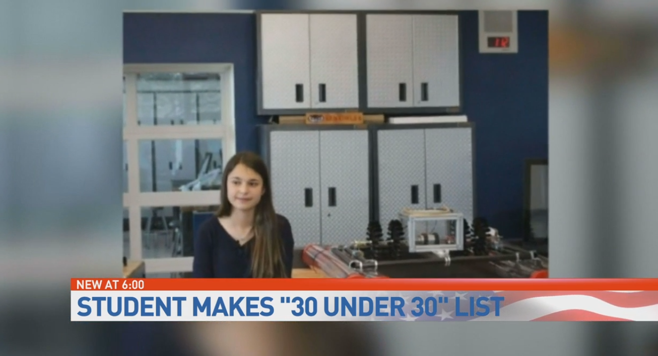 Forbes places Boca teen on their '30 under 30' list. (WPEC)