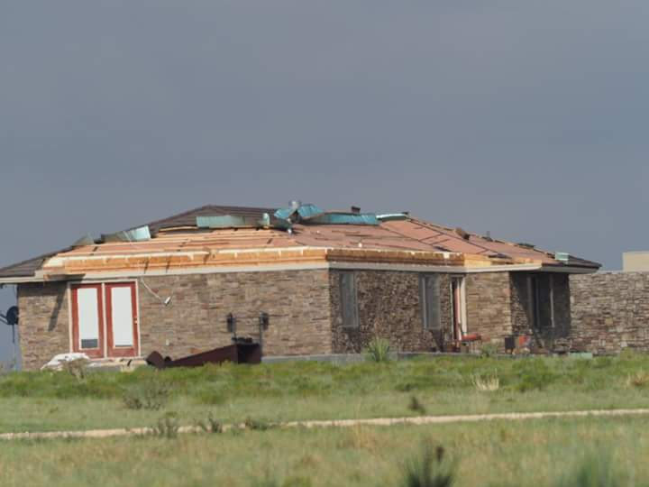 Thursday night storms in Eastern New Mexico caused major damage in Portales. (Photo: Brandon Brooks)