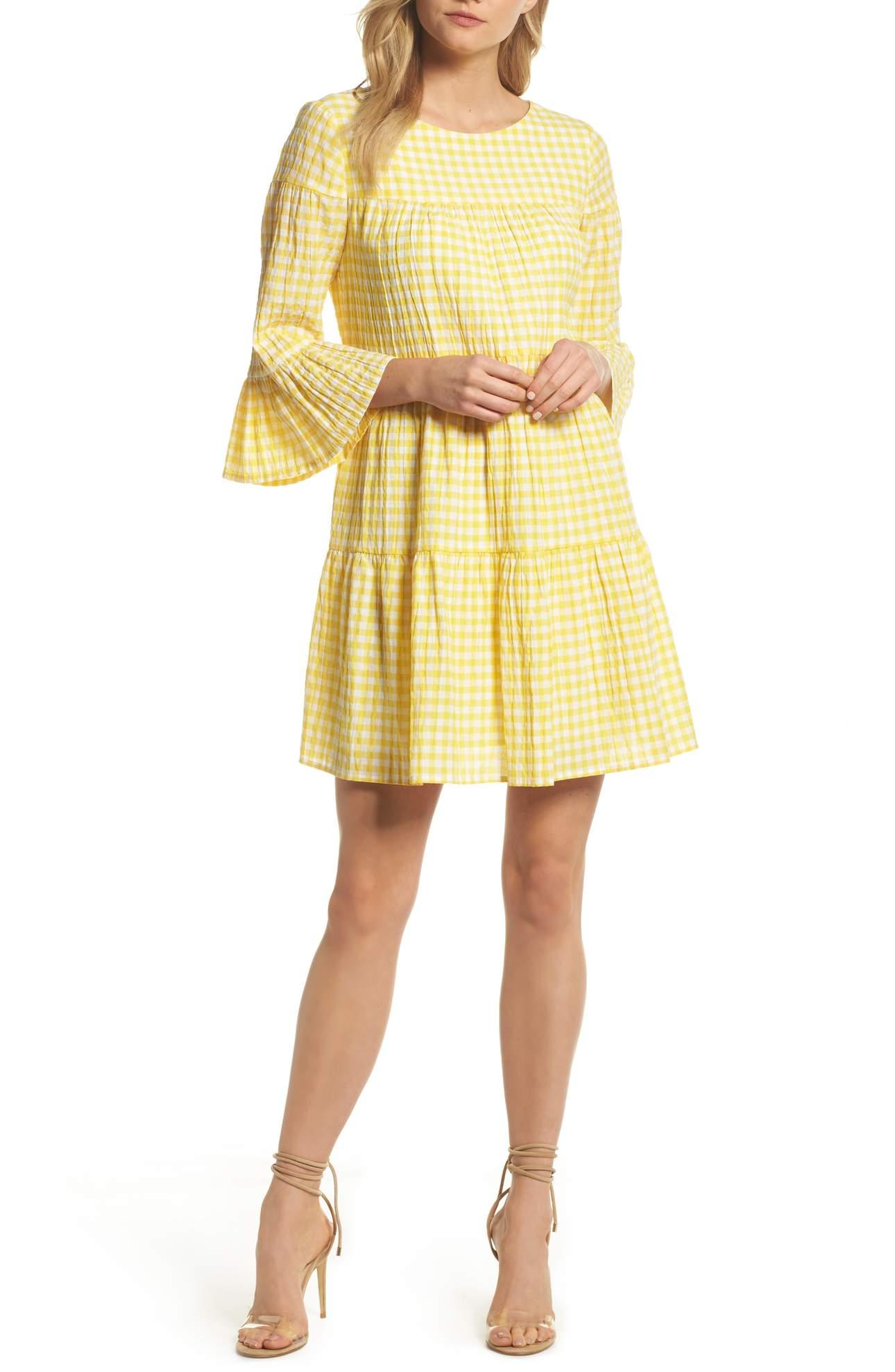 <p>Be a ray of sunshine wherever you go in this gingham swing dress that's ready for picnics, park strolls and garden parties.{&nbsp;}Gingham Swing Dress/MAGGY LONDON. $128.00 at Nordstrom. (Image: Nordstrom)</p><p></p>