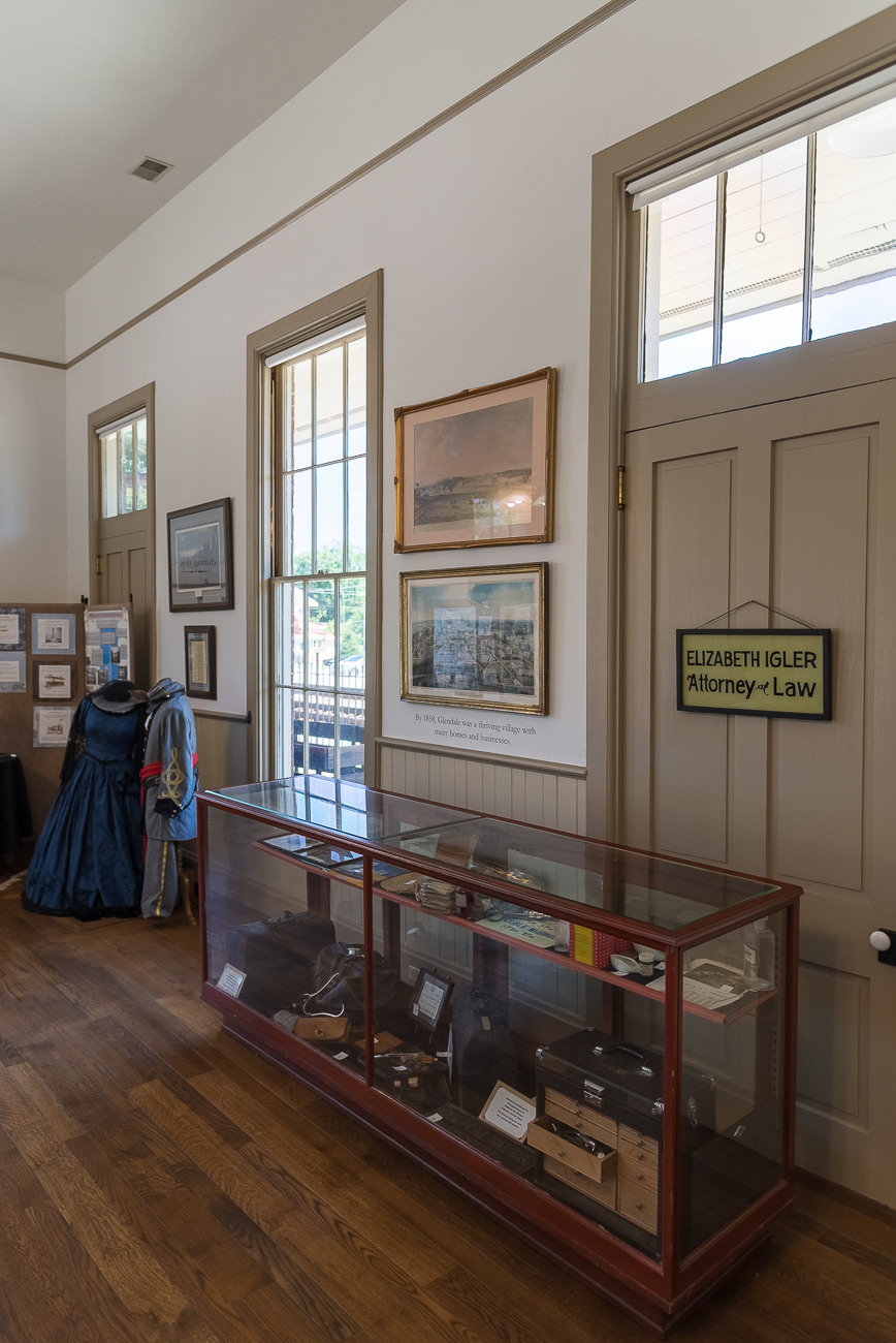 The Glendale Heritage Preservation Museum compiles artifacts from the city's past in a thoughtful way inside the former Cincinnati, Hamilton, & Dayton Railroad Depot (built in 1880). Exhibits tackle the pasts of former residents, including such notable people as William Proctor, as well as Glendale's involvement in the Civil War. A gift shop bearing all manner of Glendale-centric trinkets, novelties, and apparel is also located within the museum. Friendly volunteers are on site to offer information about the city, its history, and where to find additional things around town. It's open Thursdays and Saturdays 11:00 a.m. to 3:00 p.m. (free admission). ADDRESS: 44 Village Square (45246) / Image: Phil Armstrong, Cincinnati Refined // Published: 7.9.18