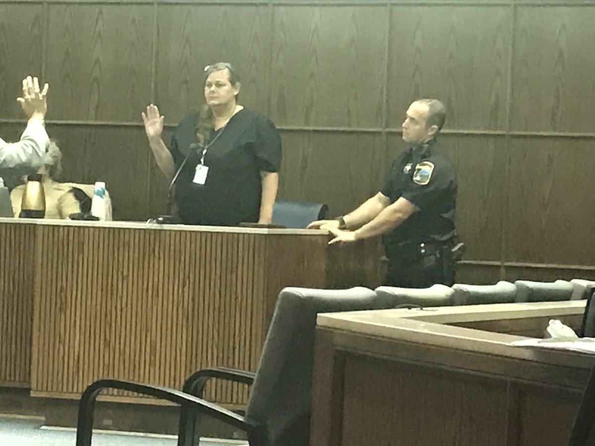 "Lisa Martin testified that as she was withdrawing blood for a DUI test, Brewer ""looked like he was going to pass out."" (Image: WTVC)"