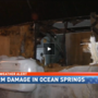 Storm damage to cars, businesses in coastal Mississippi