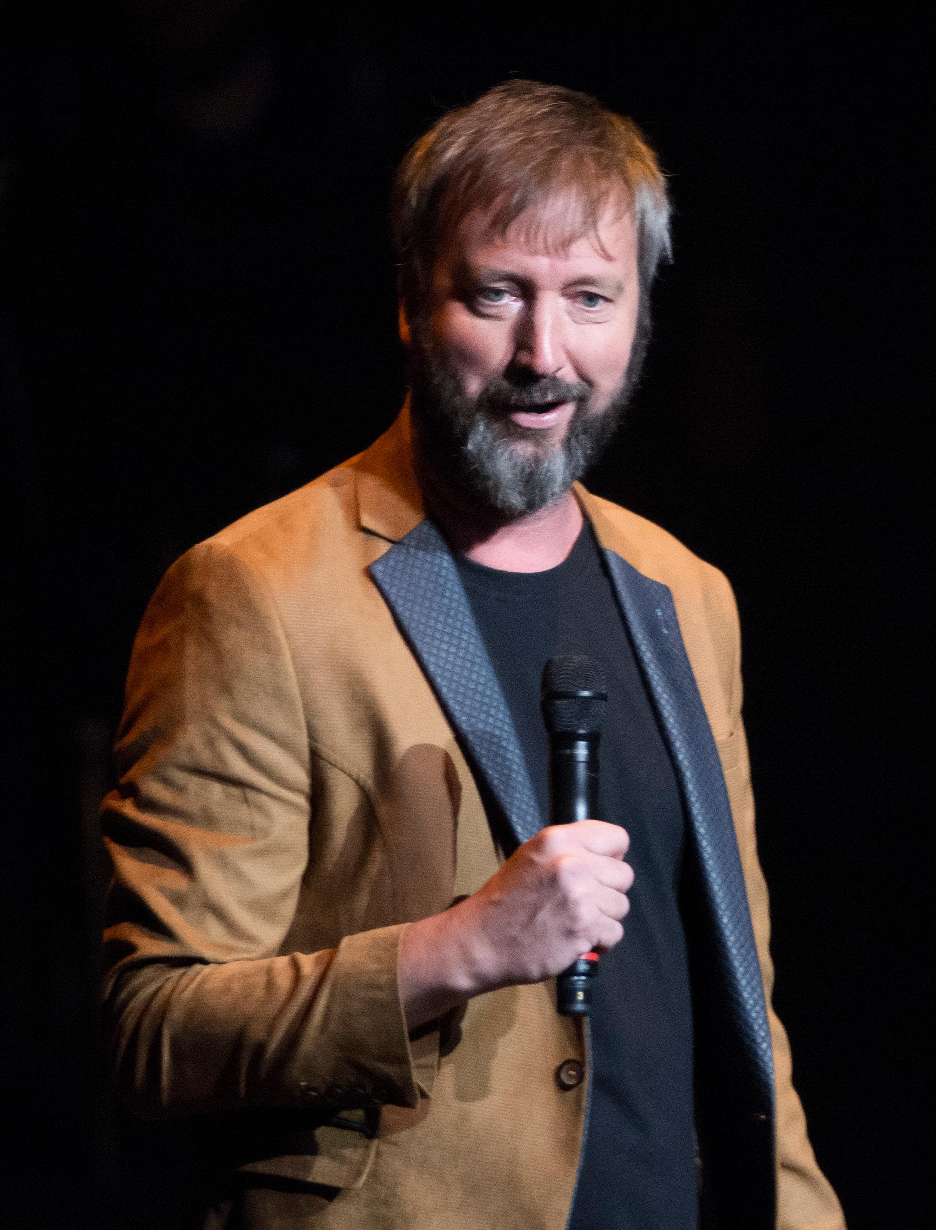 "Tom Green performs during the ""Vegas Cares"" benefit concert at the Venetian Theatre in the Venetian hotel-casino at 3355 S. Las Vegas Blvd in Las Vegas on Sunday, Nov 5, 2017. The concert was sponsored by a group of Las Vegas entertainers, producers and business professionals to honor the victims and first responders from the 1 October shooting tragedy. CREDIT: Bill Hughes/Las Vegas News Bureau"