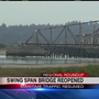 Coos Bay Swing Span Bridge reopens following temporary closure