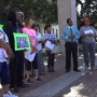 Protesters rally against prominent civil rights activist Quanell X
