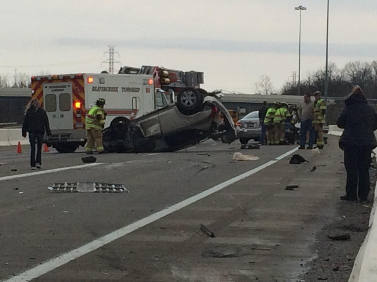 Good Samaritan pulls driver to safety after vehicle flips multiple times on U.S. 35 (WKEF/WRGT)