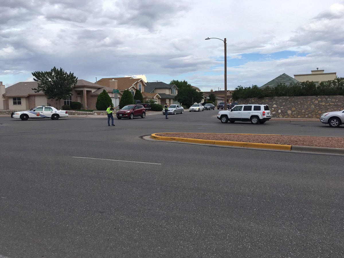 One person barricaded themselves inside a home on Tierra Alzada Drive, prompting a SWAT standoff. (KFOX14/CBS4)