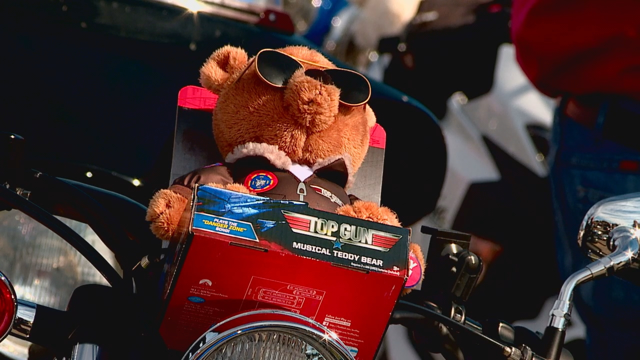 More than 450 bikers and drivers of vehicles took part in the annual Henderson County Toy Run Saturday, Nov. 21. All toys and monetary donations go directly to children in the county's foster care system. (Photo credit: WLOS Staff)