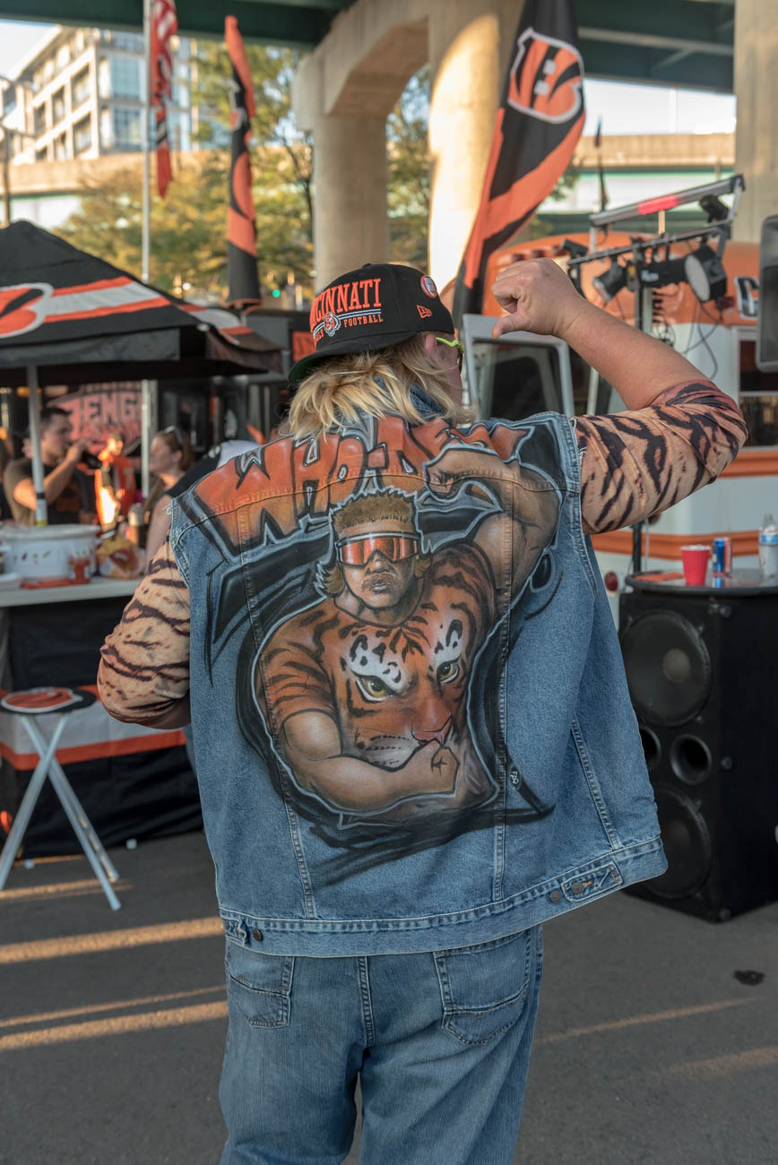 Tailgating fans rejoiced as the Bengals took on the Baltimore Ravens for the team's first home game of the season at Paul Brown Stadium on Thursday, September 13. The Bengals beat the Ravens 34-23, maintaining their season's flawless record for another week. / Image: Mike Menke // Published: 9.14.18