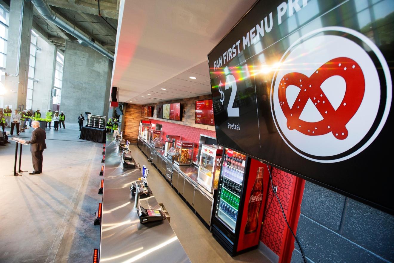 However, the Atlanta Falcons' new home, Mercedes-Benz Stadium, ...