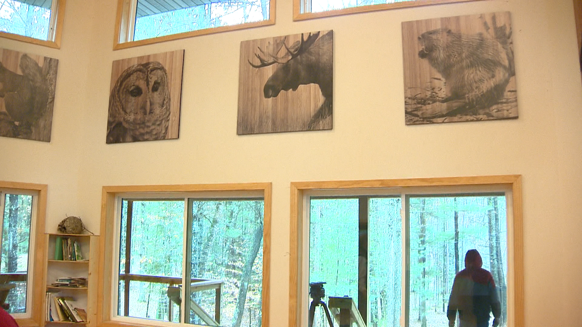 Inside the camp's nature center (WLUK)<p></p>