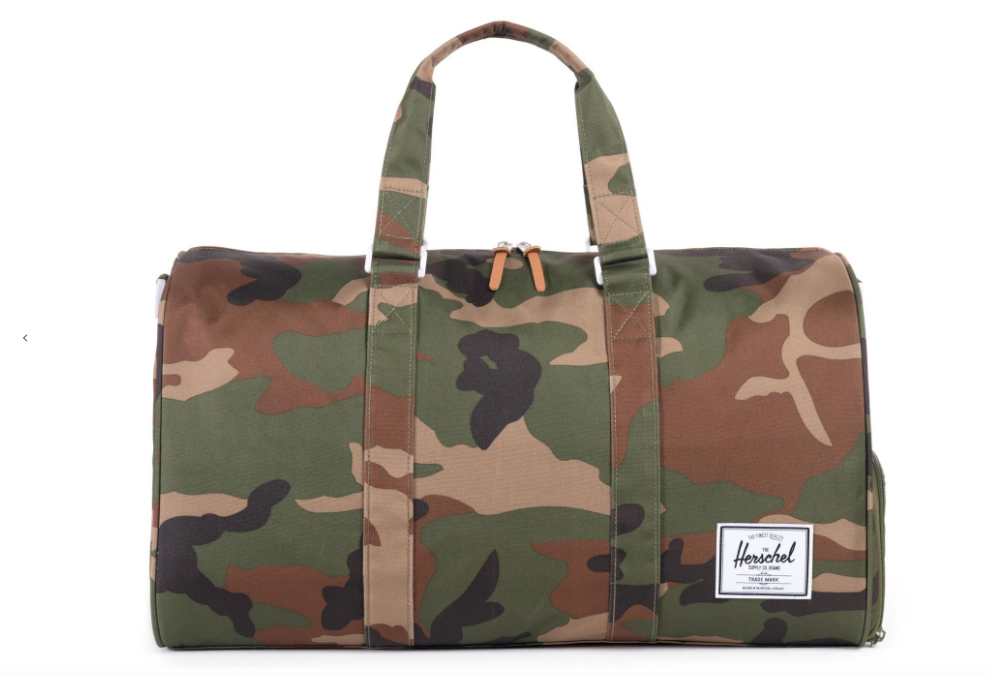 Novel Duffel by Herschel Supply Co. from Moorea Seal Collection ($85). Find on mooreaseal.com. (Image: Moorea Seal)