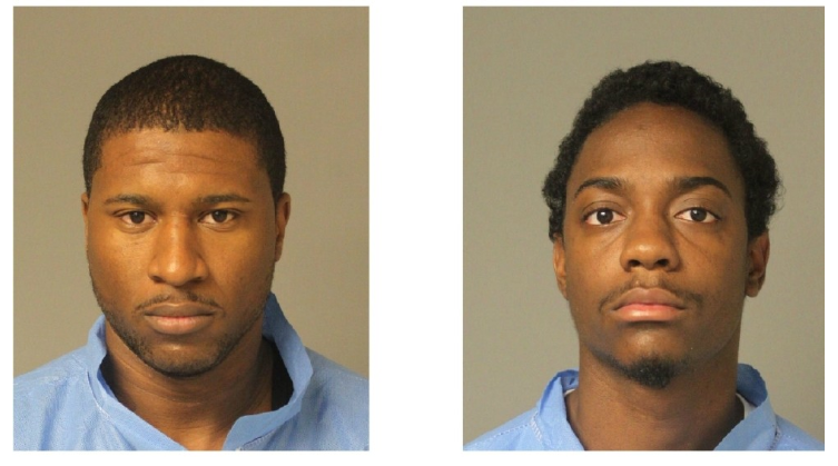 Two men, Jerron Marquise Berry and Dangelo Edward Fowler, are in custody after police say they forced their way into a house and shot two men in Laurel. (Anne Arundel County Police)