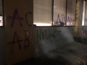 Portland Mexican consulate vandalized. Credit PPB3.JPG