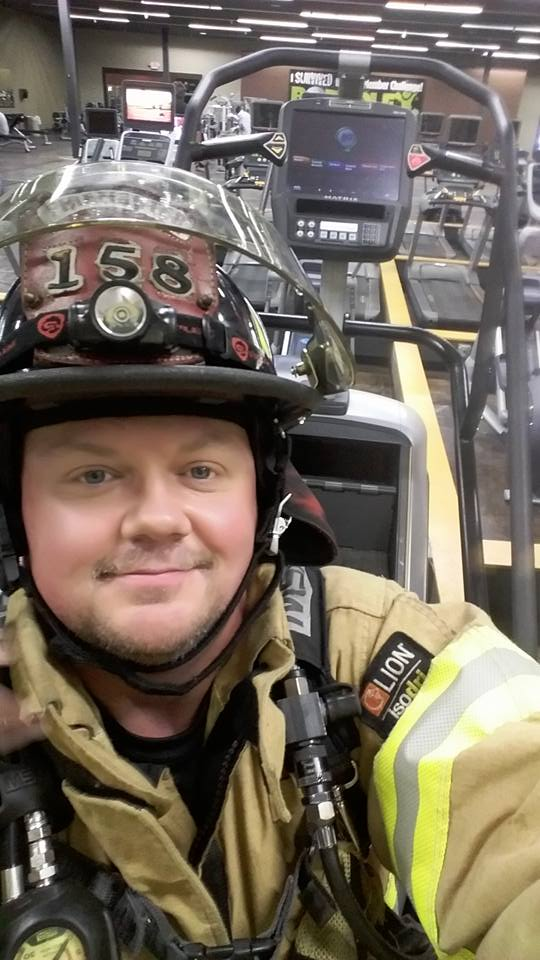 Mike Dyer climbed 110 stories on a stair-stepper in a local gym in honor of the firefighters who died on Sept. 11, 2001. (Courtesy Mike Dyer)