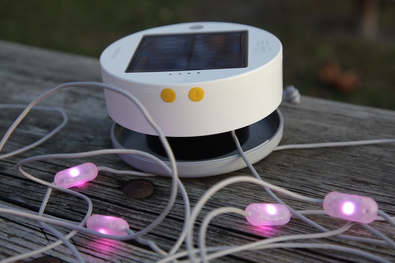 "<p>MPOWERD's Luci Color String is a fun and festive solar-powered string of lights that provides six colors of lighted ambiance across an 18-foot cord, which all tucks away into the expandable base unit. It lasts up to 15 hours on a single charge and can recharge via solar panel or quick charge via USB. /{&nbsp;}<a  href=""https://mpowerd.com/"" target=""_blank"" title=""https://mpowerd.com/"">Website{&nbsp;}</a>/ Price: $44.95 / Image: Chez Chesak // Published: 12.6.20</p>"