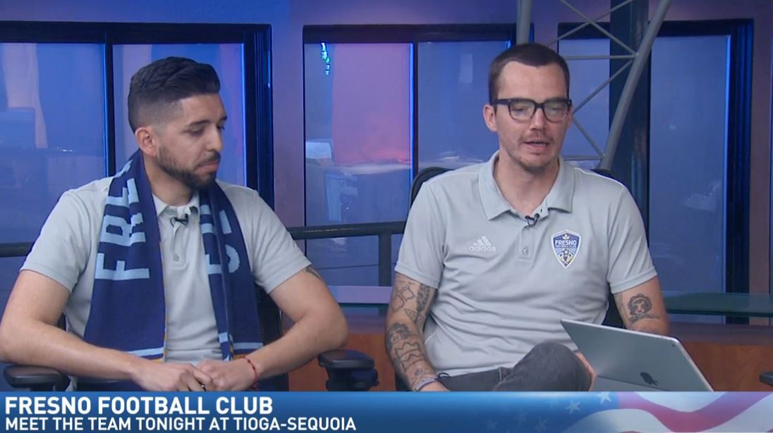 Fresno Football Club Public Relations team members, Jordan Wiebe and Jesse Beltran, visited Great Day to talk about Friday night's Kit Release Party at Tioga Sequoia Brewing Company.