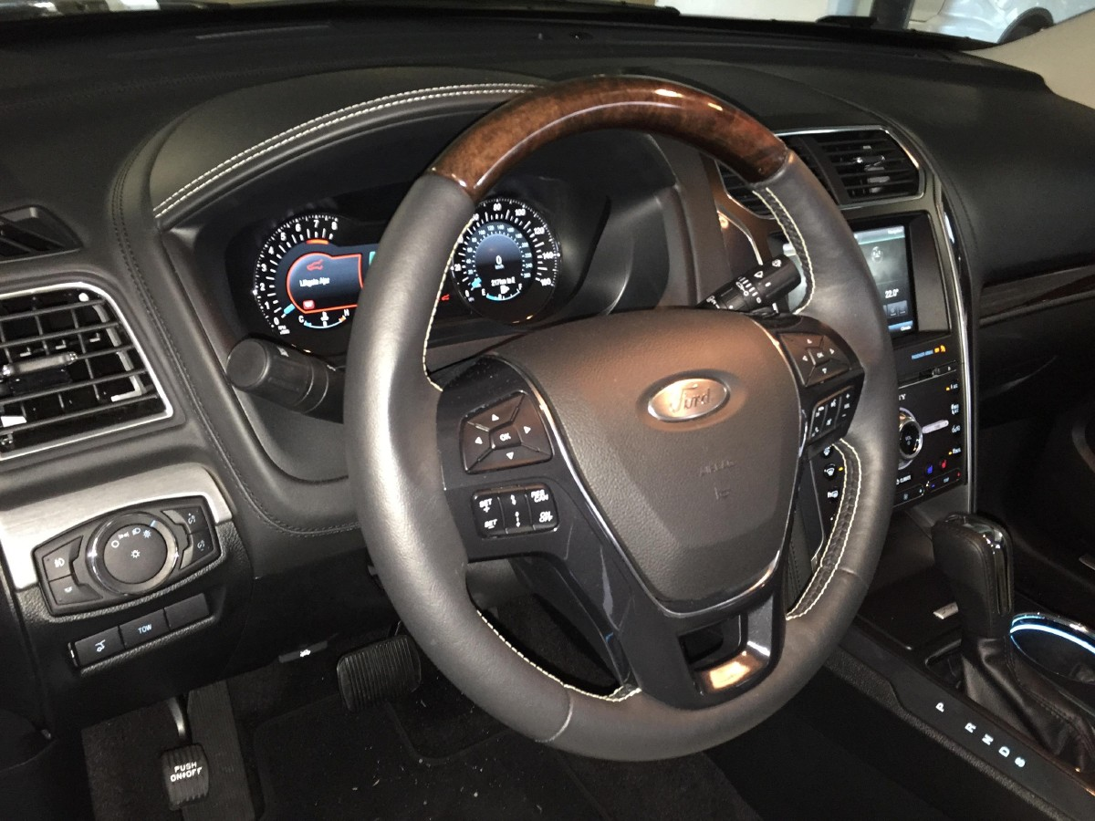the 2016 ford explorer platinum interior is posh with up level finishes and a brushed - 2016 Ford Explorer Platinum Interior