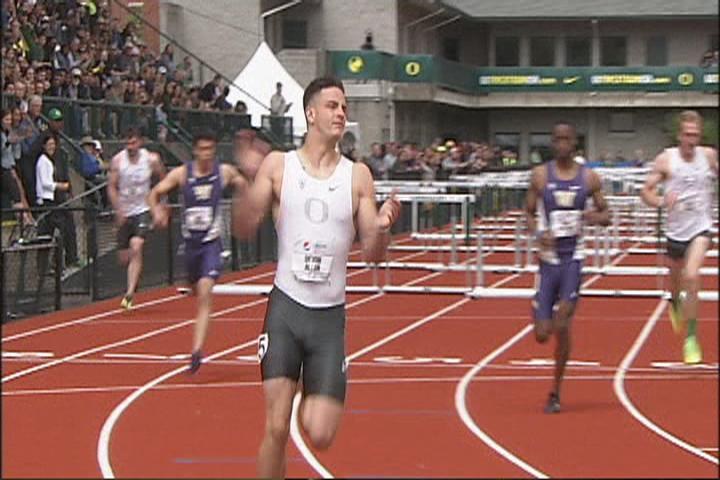 Devon Allen says he's stronger than ever after recovering from a torn ACL. The two-sport athlete plans to compete in the U.S. Olympic Track and Field Trials. SBG image