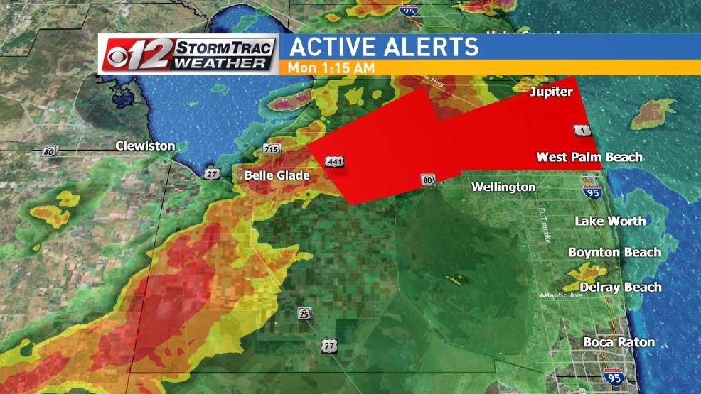 South florida under tornado watch wpec - Weather palm beach gardens florida ...