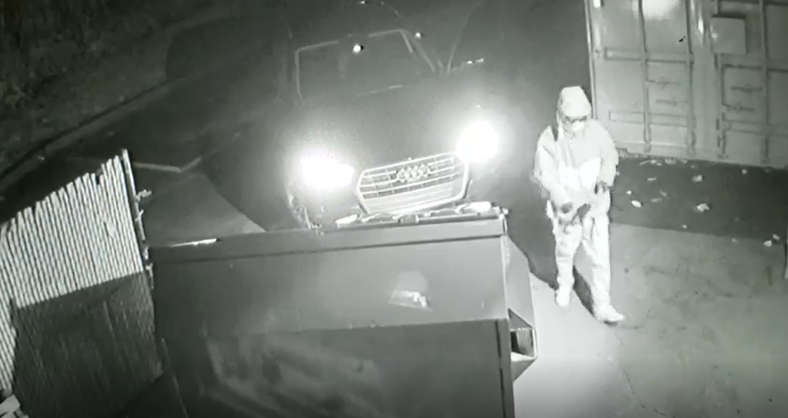 Kaysville police search for man who stole SUV, backed it through Big O Tires door., tried to break into Biker's Edge. (Photo: Kaysville Police Department)