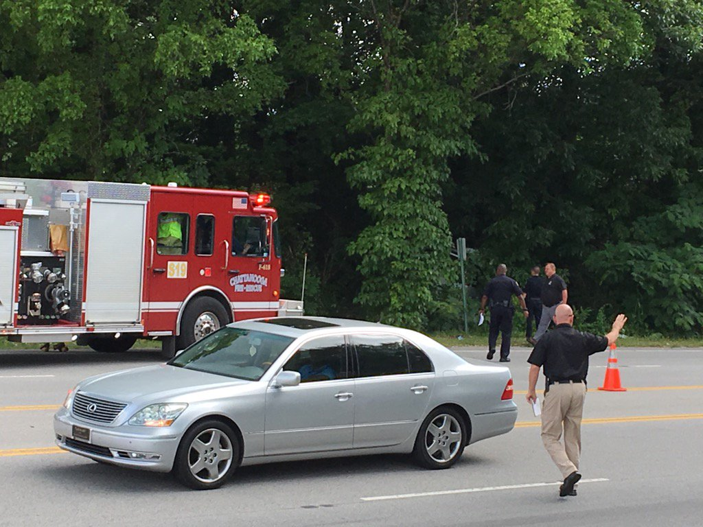 Chattanooga Police say the driver was killed, but no one else was hurt. (Image: WTVC)