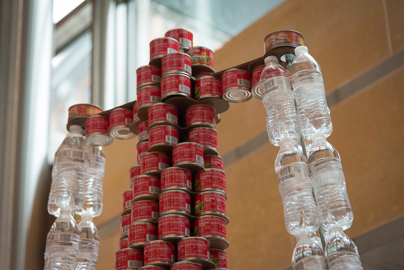 Structure: It Doesn't Take a Genius to Help Feed The Hungry / Location: The front lobby of Aronoff Center for the Arts / Image: Phil Armstrong, Cincinnati Refined // Published: 4.16.18