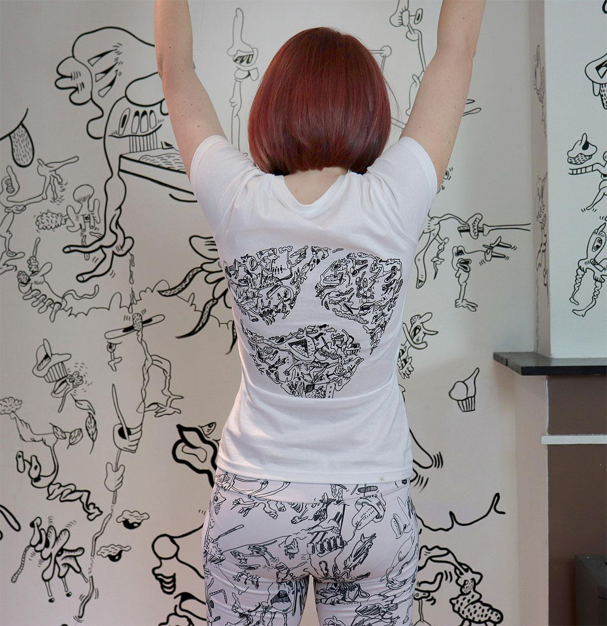 "An artist from Belgium has turned her home into a work of art by creating doodles in every room.""An artist and illustrator and I use a self-invented technique of automatic drawing to delve into my subconscious,"" says Jook, real name Joke Neyrinck. ""I doodle everywhere and at every spare moment; by quickly drawing, barring any conscious thought, I am giving as much room as possible to my imagination. ""Though extensive, at times even compulsive, through doodling a new and totally unique world arises.""Where: Belgium, BelgiumCredit: jookdoodlewoman/Cover Images"