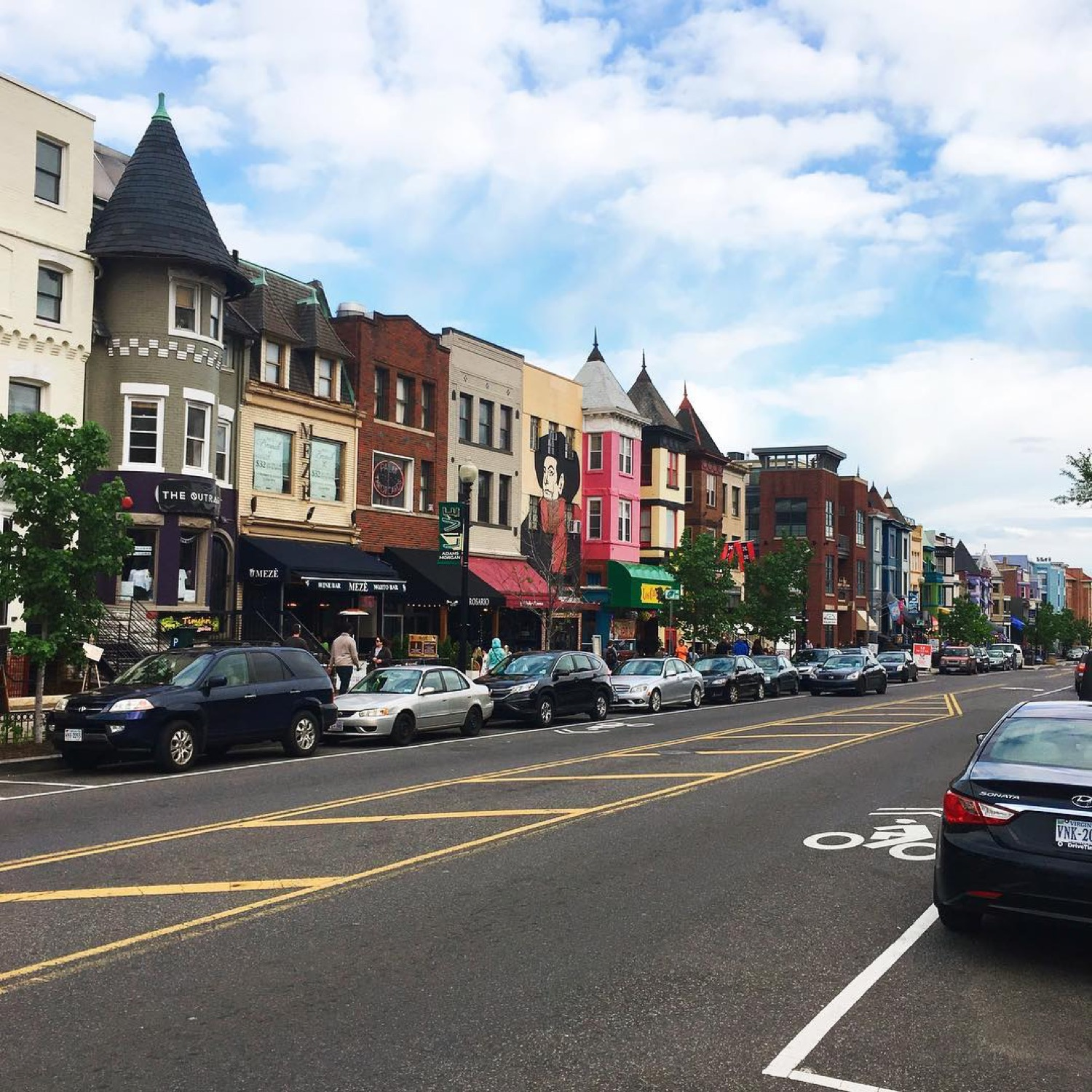 PLACE: Adams Morgan, Washington, DC / MILES FROM CINCY: 500 / ABOUT: Adams Morgan is Washington, DC's cool companion to the high-end Georgetown. With greater diversity and charming architecture, the advantage is Adams Morgans. / Image courtesy of Instagram user @yenzioe // Published: 5.14.17