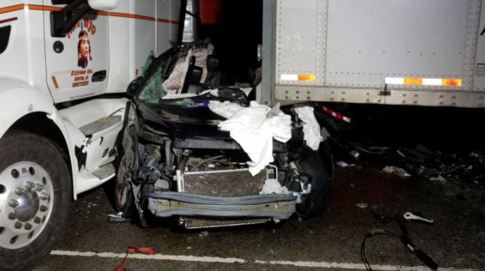 Black ice causes 20-car pileup on Oregon interstate near Deadman's