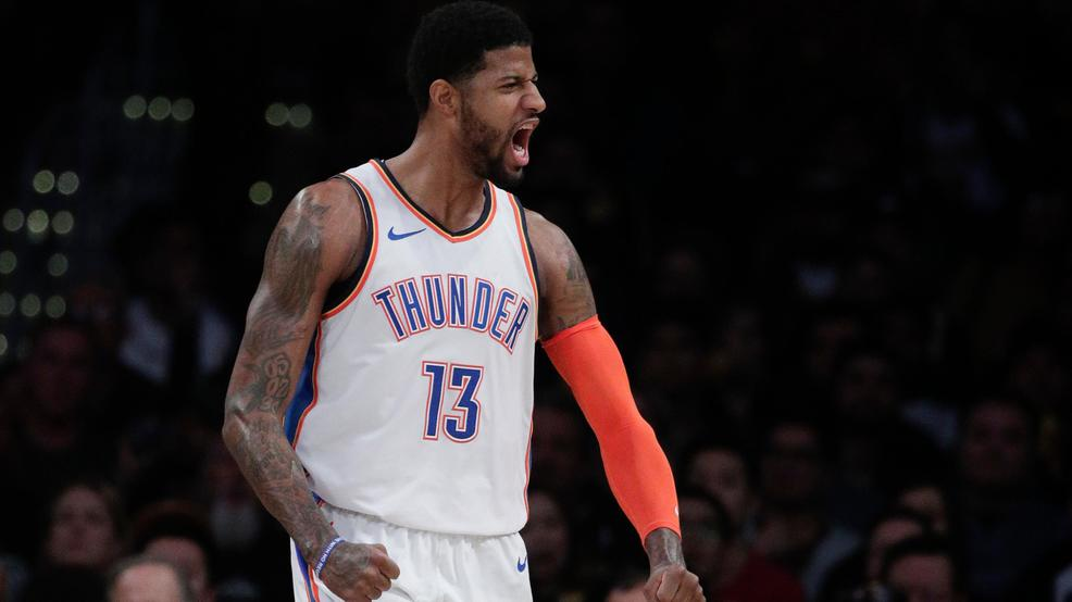 eb28deb2c Paul George gets 37 amid boos in OKC s 107-100 win at Lakers