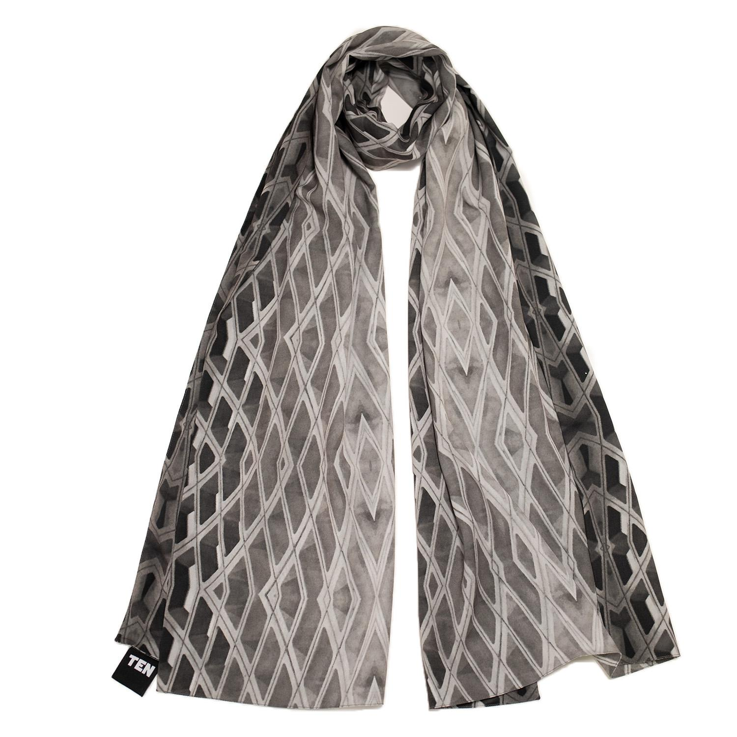 L'Enfant Scarf from TEN // Price $85 // Buy online // https://www.tenclothing.xyz // (Image: Courtesy TEN)