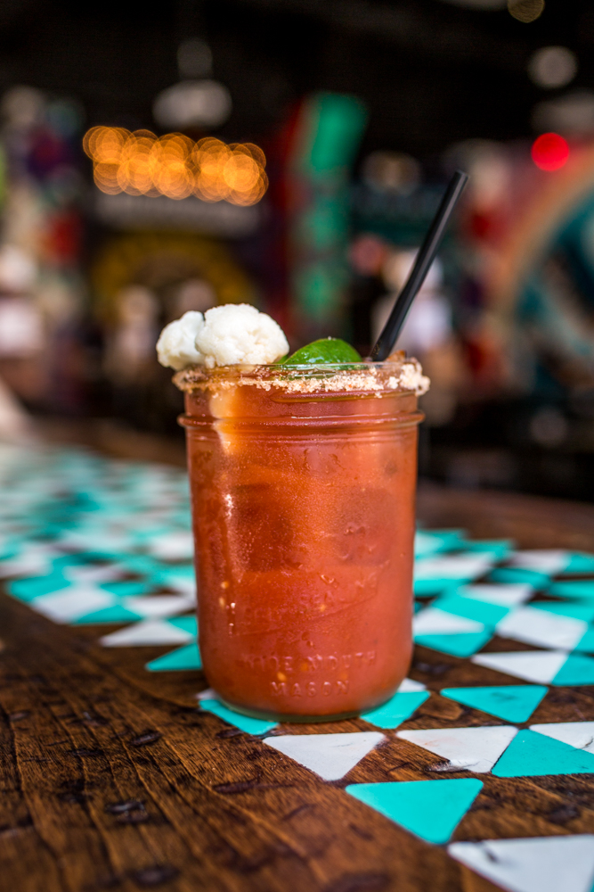 Bloody Mary: vodka or blanco tequila, house Bloody Mary mix, salt rim, pickled cauliflower, and jalapeño / Image: Catherine Viox{ }// Published: 6.9.19