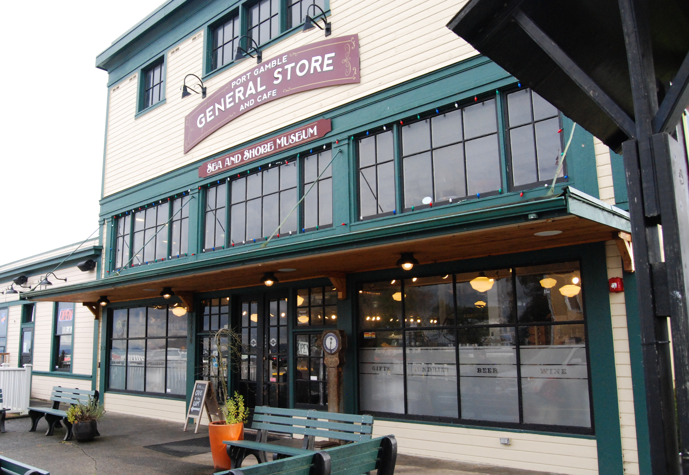 Stop by the Port Gamble General Store  for some delicious food and great shopping while visiting Port Gamble (Rebecca Mongrain/Seattle Refined)
