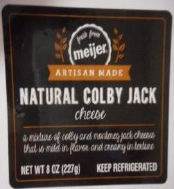 Meijer is recalling its store brand Colby and Colby Jack deli cheese due to concerns of listeria contamination. (Photo: FDA)