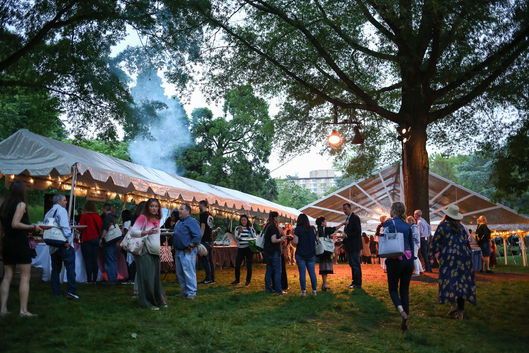 Zoofari brought together 74 restaurants and thousands of foodies and animal-lovers for the annual food-and-drink festival at the Smithsonian National Zoo on May 16. The after-hours fun raises money for the zoo and its conservation efforts while raising awareness about at-risk wildlife. The night included a silent auction, life music, the chance to see wildlife that's more active at sunset and plenty of delicious food and drinks.{ }{ }(Amanda Andrade-Rhoades/DC Refined)