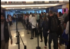 One man got more than two minutes of video to get to the end of the security line at Chicago Midway0.jpg