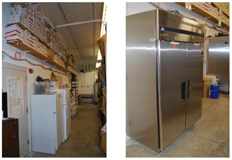 APD now has an industrial refrigerator to preserve items that require cold storage (Photo credit: Asheville Police)<p></p>