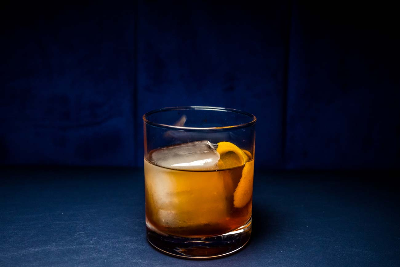 Old Fashioned: Evan William's bourbon, demerara, Angostura bitters, and Fee Bro's cherry bitters / Image: Catherine Viox // Published: 10.31.20