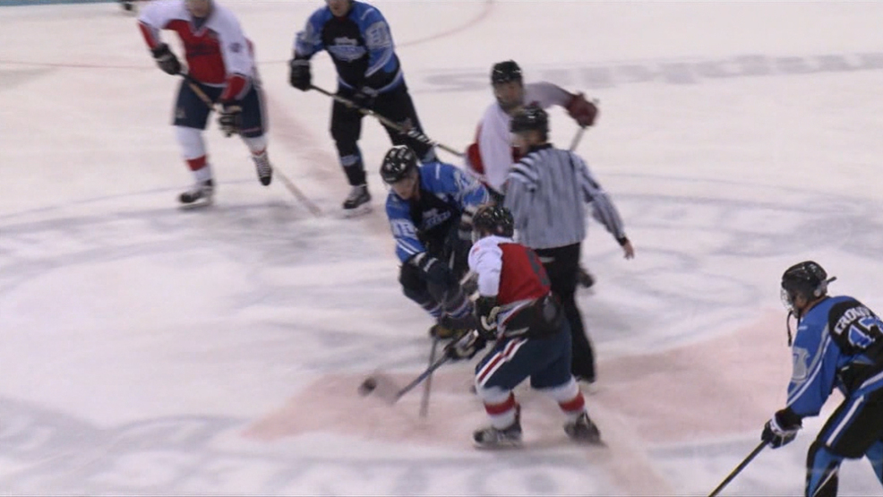 Firefighters and Police Take the Ice for Cancer Research