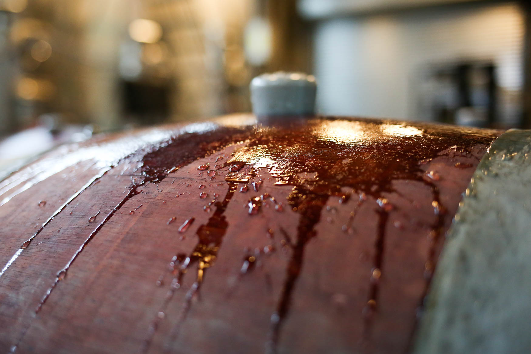 Before the wine is checked, the barrels need to be scrubbed so that mold doesn't inadvertently fall into the wine mixture. (Amanda Andrade-Rhoades/DC Refined)