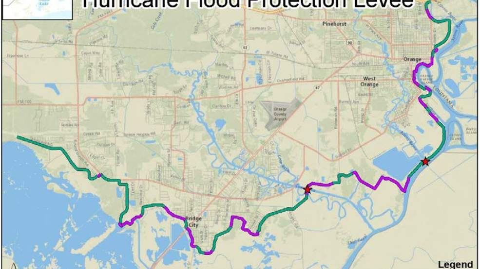 Map Of South East Texas.Feds Send 4 Billion For Levee Projects In Southeast Texas Kfdm