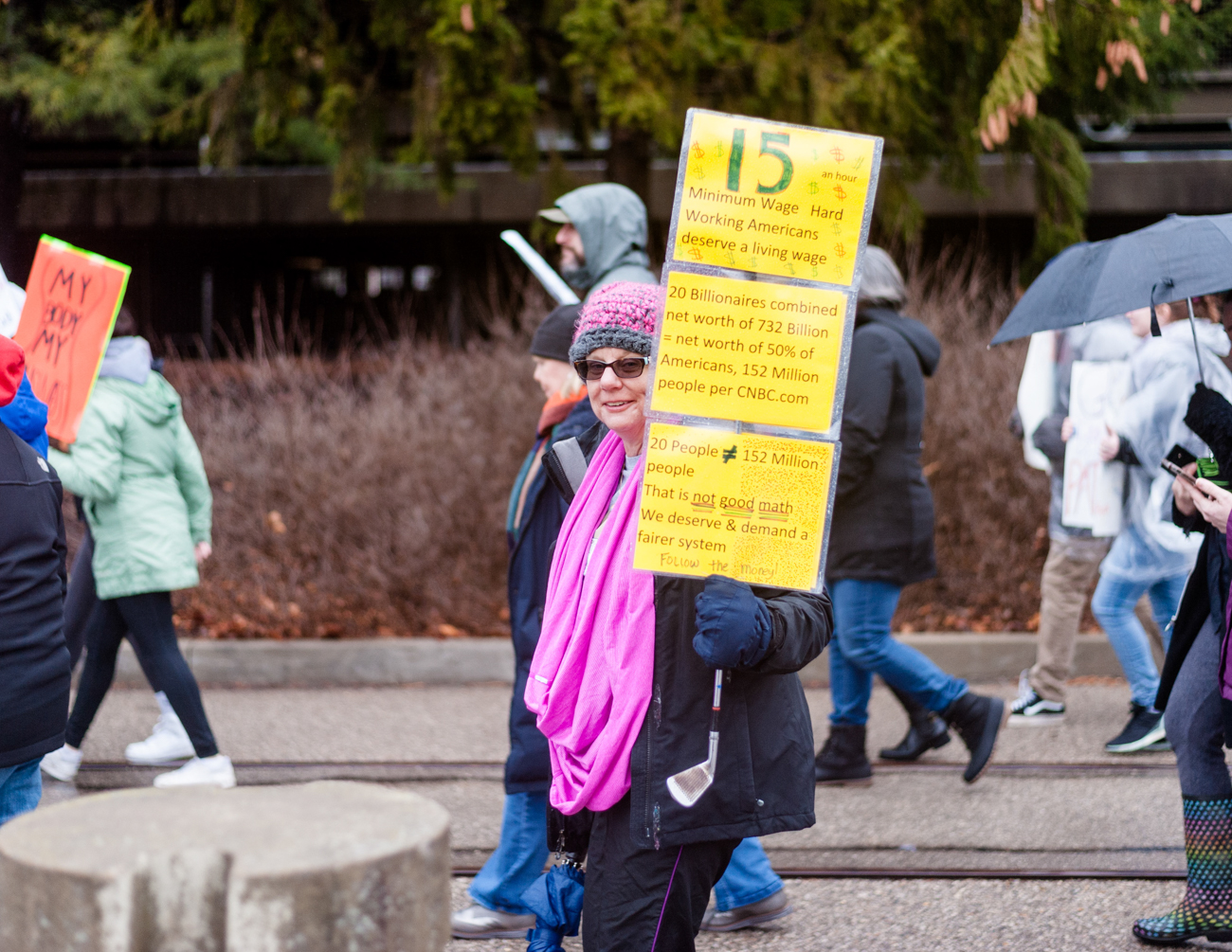 The 2020 Cincinnati Women's March, organized by activist group United We Stand, took place on Saturday, January 18. Hundreds gathered under overcast skies at Sawyer Point before marching through the streets of Downtown to protest the president as well as bring attention to issues affecting women. The original Women's March was held in January of 2017, bringing millions of people across the nation to the streets to protest. / Image: Kellie Coleman // Published: 1.19.20