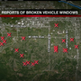 Someone broke nearly 40 car windows, and police are finding out who