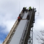Ski jumping tournament in Iron Mountain, Michigan