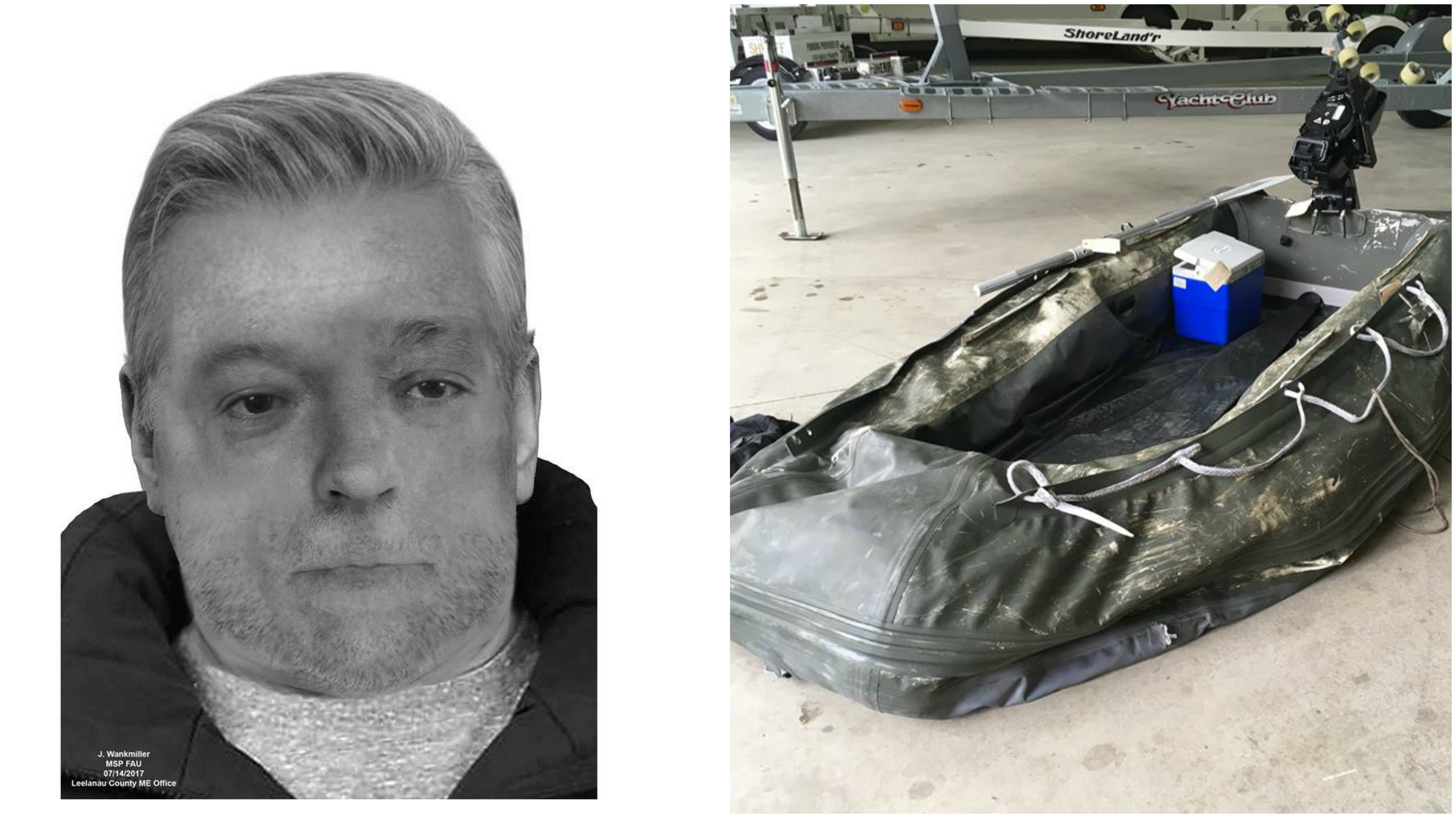 ID of body found near Leland still unknown, sketch released (Courtesy: Leelanau County Sheriff's Office - Michigan State Police)