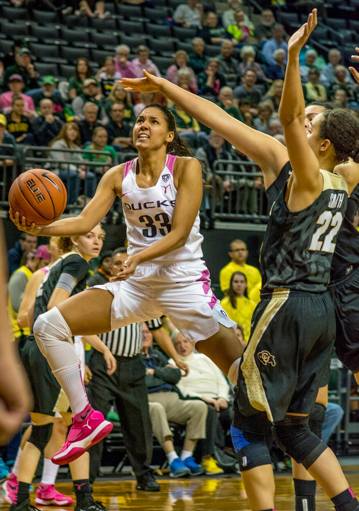 Oregon women win 5th straight beat colorado 77 70 kval for 979 the beat number