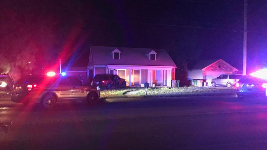 A high-speed chase from Taylor County to Tom Green County ended with a crash into a San Angelo home. (Courtesy: Joe Hyde, San Angelo LIVE!)