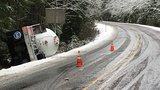 Propane truck crash closes Hwy 126E east of McKenzie Bridge