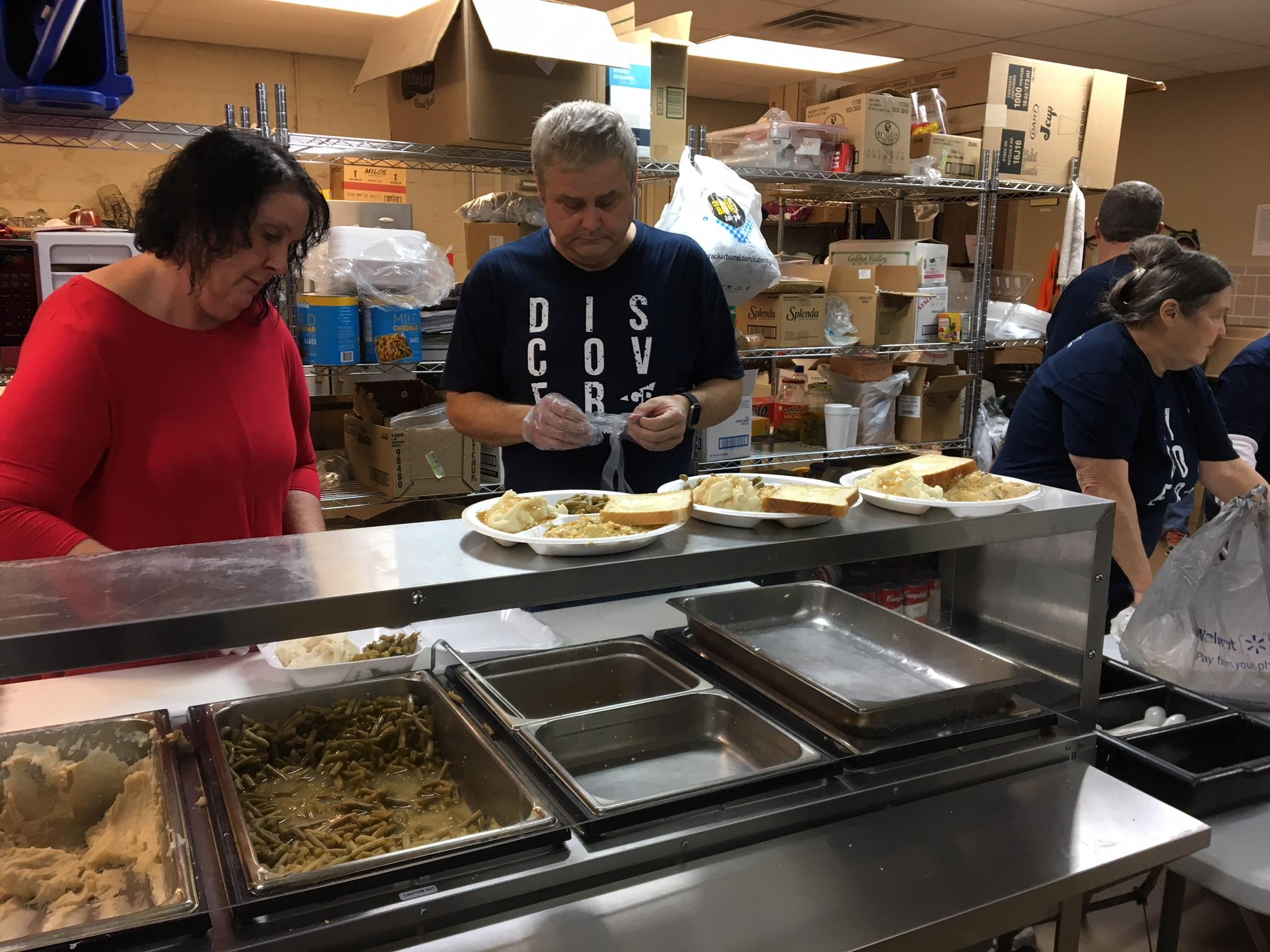 <p>People who eat at the Salvation Army say the volunteers treat strangers like family.{&amp;nbsp;}{&amp;nbsp;}(Image: WTVC)</p><p></p>